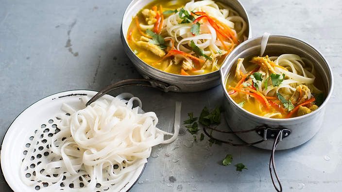 Nepalese chicken noodle #soup (thukpa) makes for an easy midweek meal. Listen to the audio recipe.