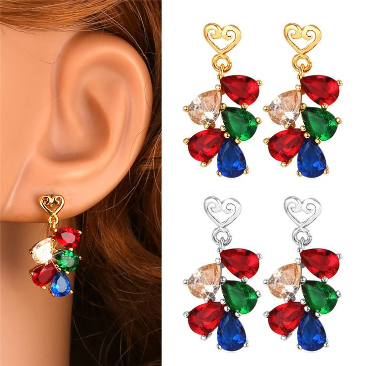 Cheap earring and necklace set, Buy Quality earings directly from China earring rhinestone Suppliers:                             Red Earrings Fashion Jewelry 2015 New Vintage Platinum / 18K Real Gold Plated Cubic Zir