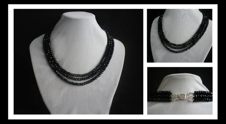 Black Crystal Necklace http://www.facebook.com/ZadiaDesigns