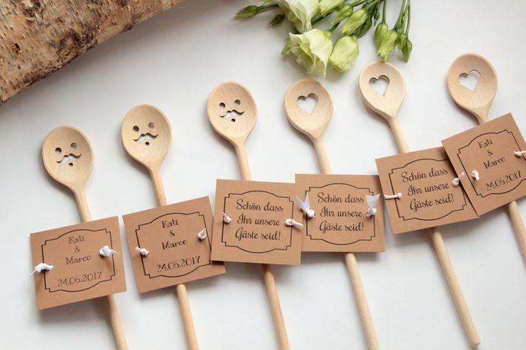 Gastgeschenke für Hochzeit 2018 NEU!!! auch mit Herzaugen Smiley und mit Schnurrbart erhältlich mit kostenlosem Vorlage www.unikatinka.de