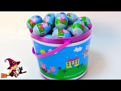 Huevos Sorpresa de Peppa Pig en Español Cubo con 25 Huevos de Peppa Pig - YouTube