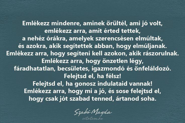 Szabó Magda #idézet