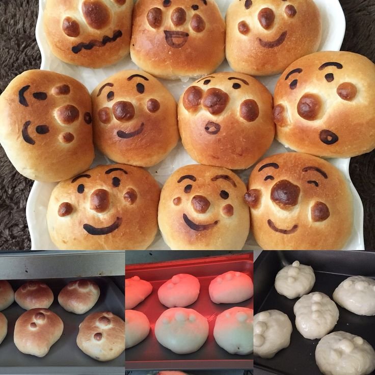 Anpanman bread with chocolate filling.