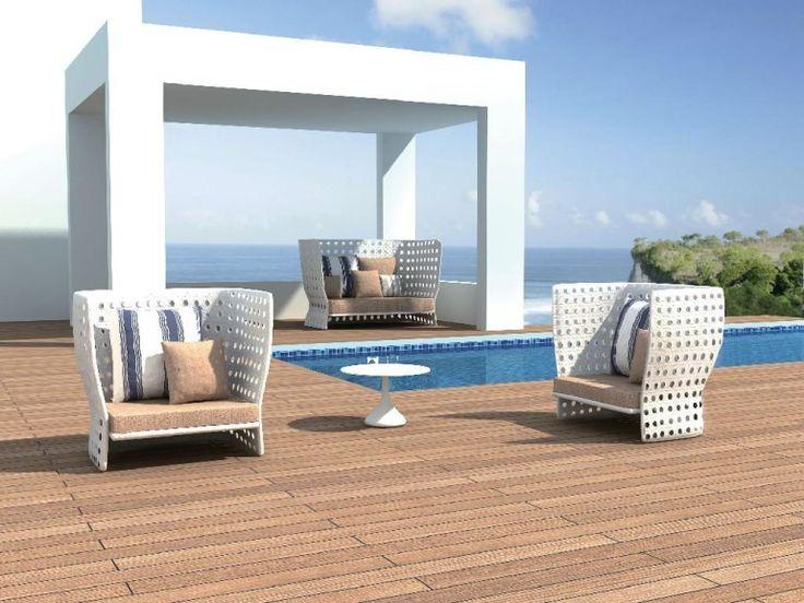 Outdoor Design Furniture Decoration Rattan Furniture In Poolside