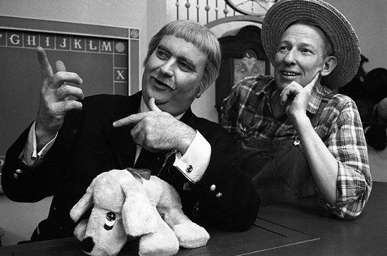 Captain Kangaroo and Mister Green Jeans