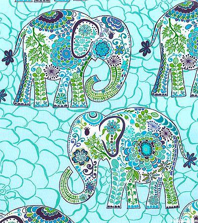 $15.75 Valori Wells Marrakech Elephants 1.5 yds @ 10.50/yd FSKARAAQ