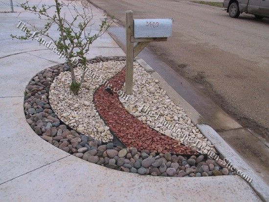 17 best ideas about mailbox landscaping on pinterest for Different color rocks for landscaping