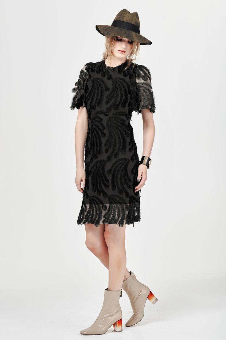 THREADS OR TAILS DRESS - Trelise Cooper-Dresses : Trelise Cooper Online - TAIL FEATHER TRELISE COOPER WINTER 16