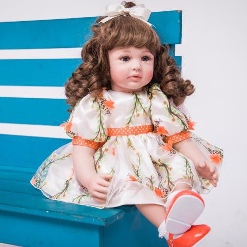 "24/"" Handmade Vinyl Reborn Baby Toddler Dolls Lifelike Girl Doll Xmas Gifts"