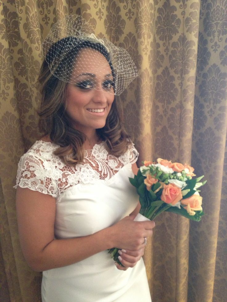 Bride in Ireland. Hairstyle and makeUp by Me.