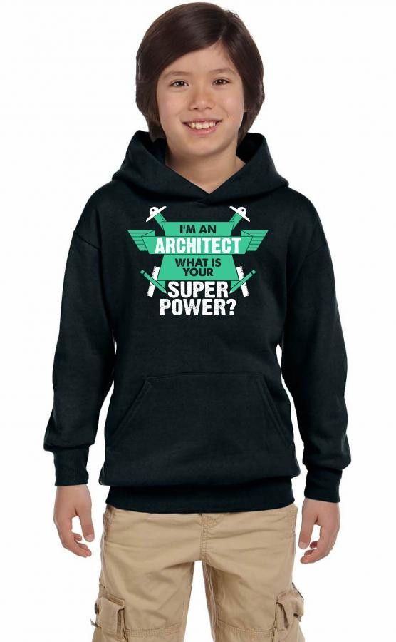 I am an Architect What is your Superpower? Youth Hoodie