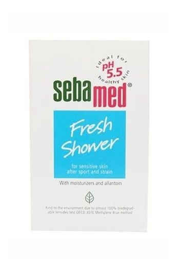 Sebamed Fresh shower 200ml. This product supports and protects the natural barrier function of the skins acid mantle. With the pH value of 5.5 of healthy skin. Moisturizes the skin with natural amino acids. Soap-free shower emulsion for daily gentle cleansing, making the skin supple and smooth.