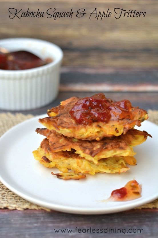 Gluten Free Kabocha Squash and Apple Fritters http://www.fearlessdining.com