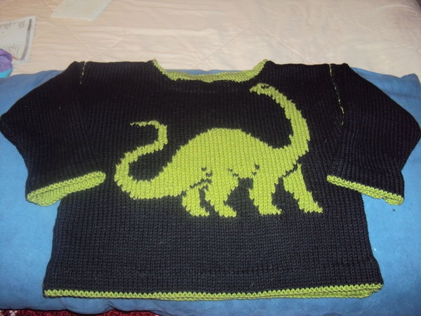 Dinosaur sweater. My Knittaz Pinterest Dinosaurs and Sweaters