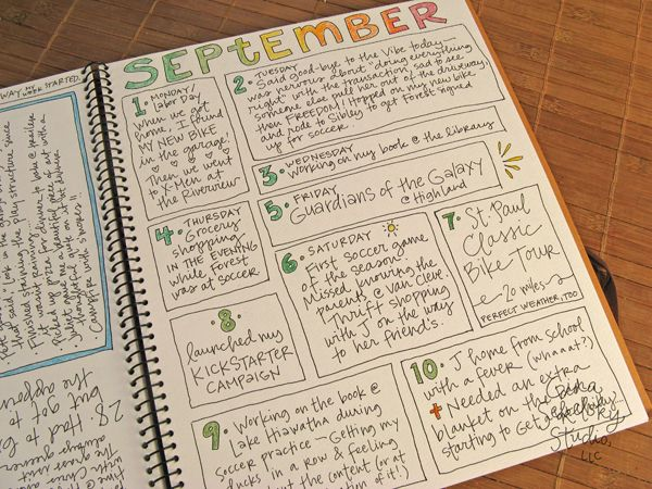 Daily Journal Project - I really like this. She has lots of posts on her journal.