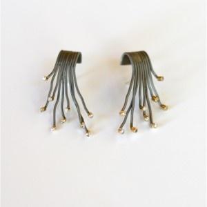 Stainless Steel and Zircon Earrings | Earrings | Loft Living Ltd