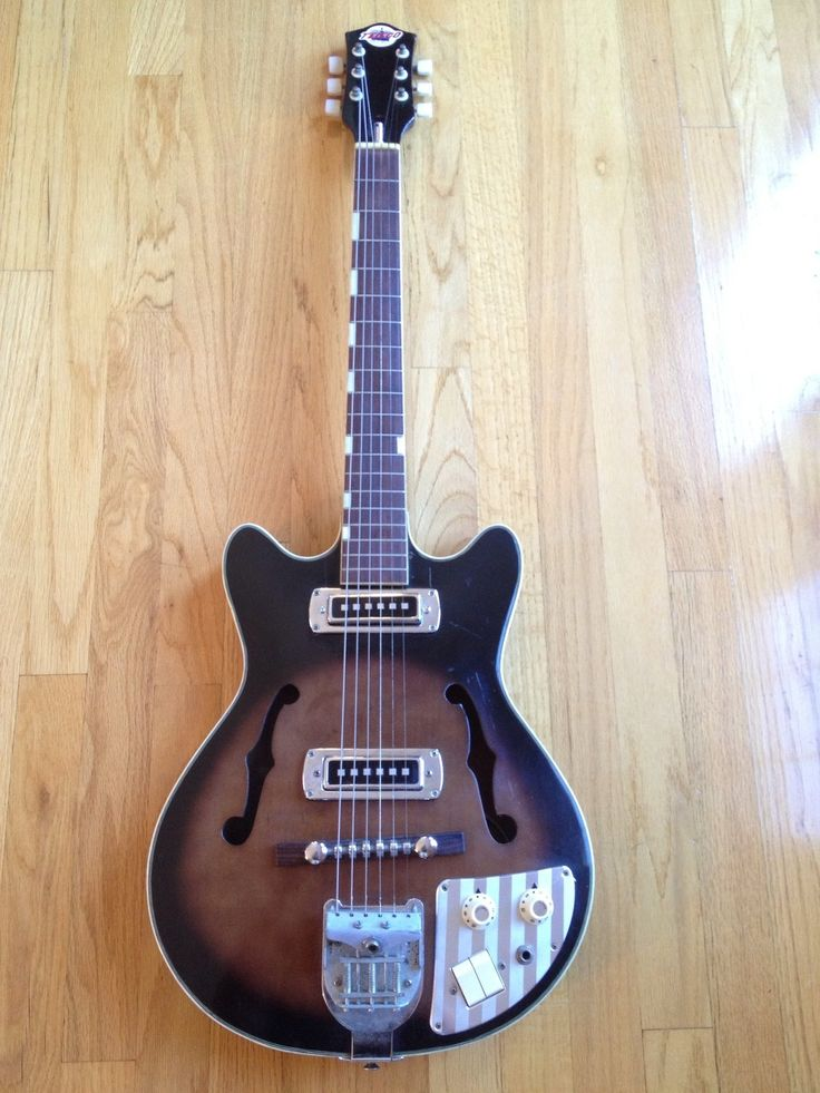 17 best images about four six and eight italia teisco del rey vintage 1960 s hollow body ep 9t electric guitar