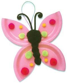 Spring Butterfly Craft for Kids. More paper plate crafts here for Spring too!