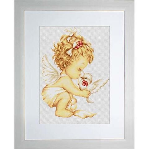 Luca-S Angel with Pigeons Counted Cross-Stitch Kit $14.99