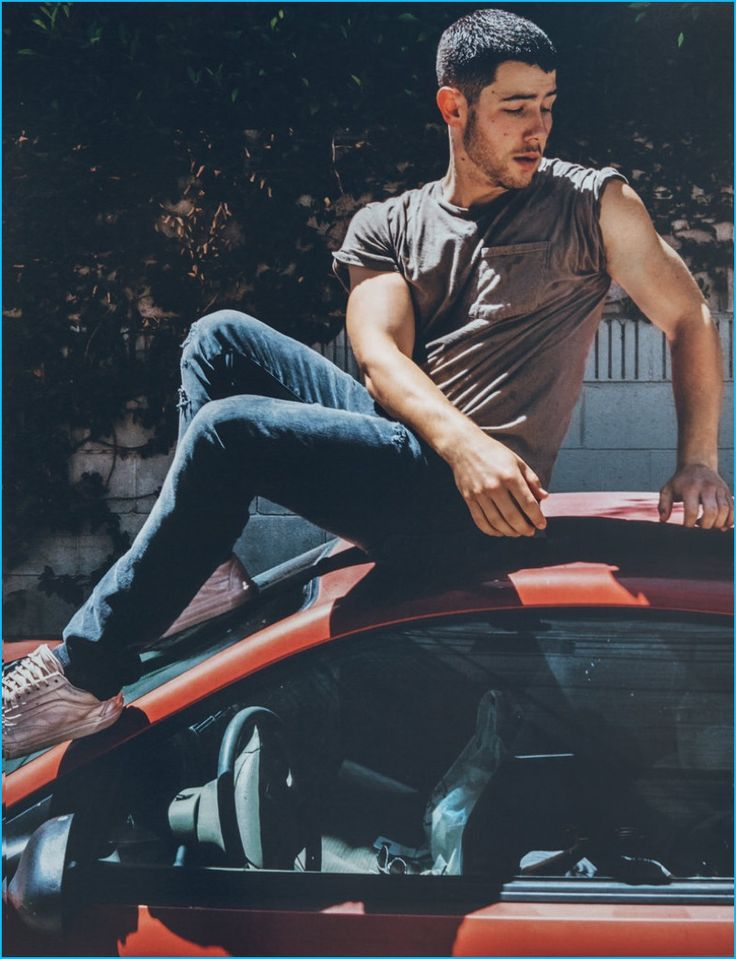 Nick Jonas goes casual for the pages of Wonderland magazine.