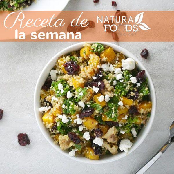 Nuestra #receta especial por el mes de octubre es a base de #quinoa, #calabaza, #kale, #arándanos, #nueces y #queso de cabra. Sin duda es una receta que no puede faltar en tu libro de cocina. Ve nuestros ingredientes y el paso a paso aquí:http://naturafoodsmarket.com/recetas/ensalada-de-quinoa-con-calabaza-kale-arandanos-nueces-y-queso-de-cabra/ #octubre #halloween #recetas