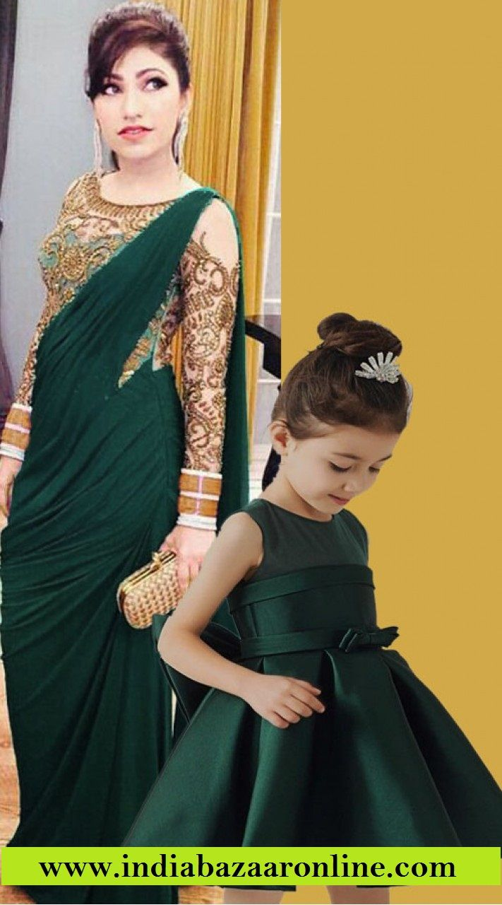 cfcf6a15d8 Buy this designer Matching dress for mother and daughter.  #motherdaughterdress #matchingdress #designerwear #motherdaughtercombo  #latestcollection
