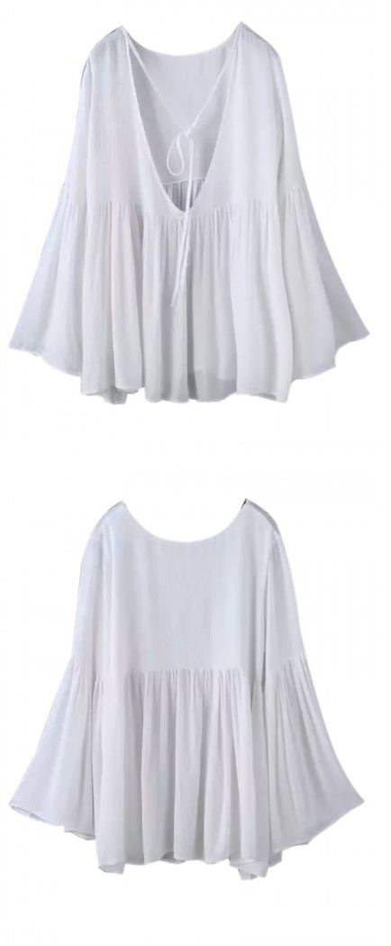 White women pure blouse suit for ladies. I can not help sharing this piece with my bff