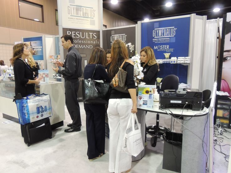 The glymed glymedplus booth at the tradeshow in