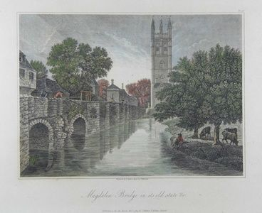 Magdalen Bridge in its old state | Sanders of Oxford