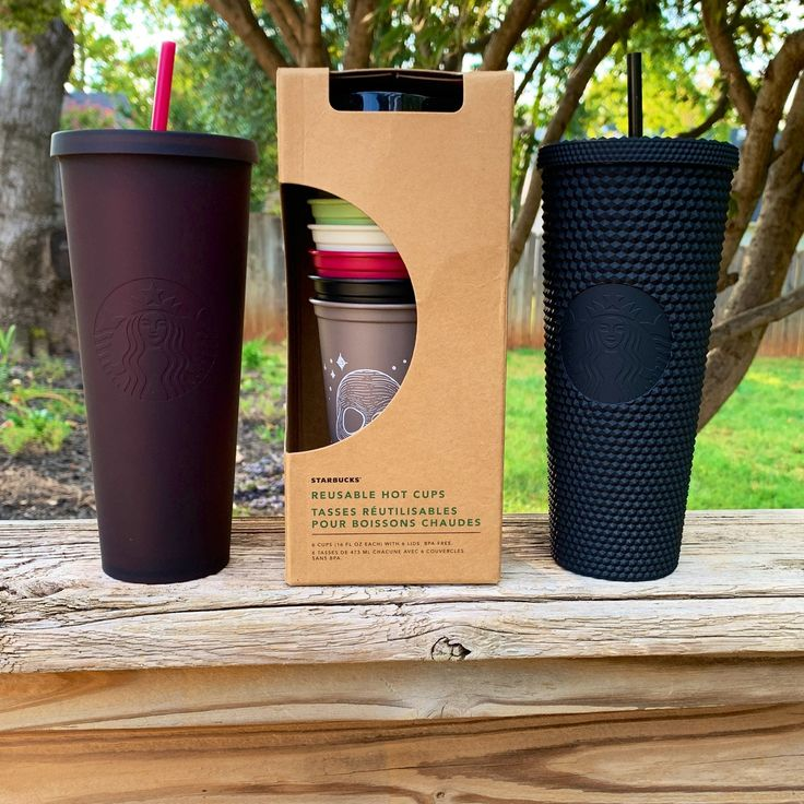 Starbucks 2019 Halloween/Fall Collection New 6 Reusable