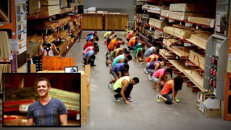 Spencer's Home Depot Marriage Proposal - Utah Man Proposes to Boyfriend with Help From a Flash Mob in Home Depot