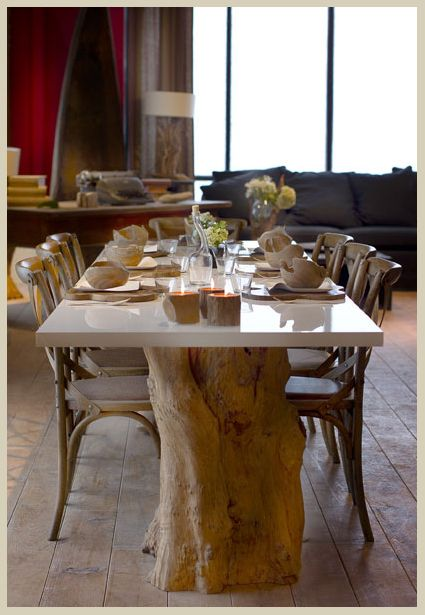 51 Best Comedor Images On Pinterest  Dining Rooms Mesas And Magnificent Tree Trunk Dining Room Table Design Decoration