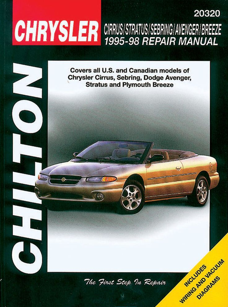 Chilton Repair Manual Chrysler Cirrus Stratus Sebring Avenger Breeze 95-98 20320 #Chilton