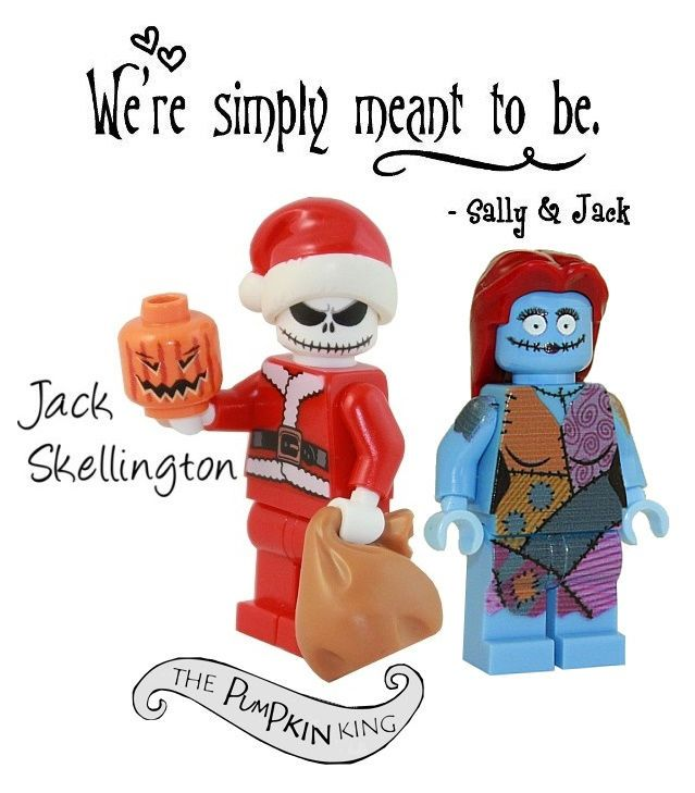 JACK SKELLINGTON+SALLY Nightmare Before Christmas minifigure walking dead lego