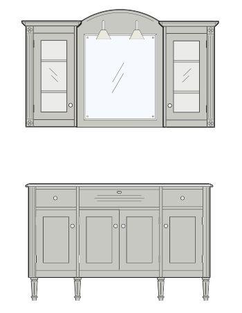 Louis badrumsinredning är romantik med hantverksmässig möbelkänsla – Nytt kök badrum och tvättstuga - Vedum kök och bad AB