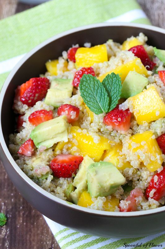 Strawberry, Mango and Avocado Quinoa Salad ~ healthy, easy and delicious!