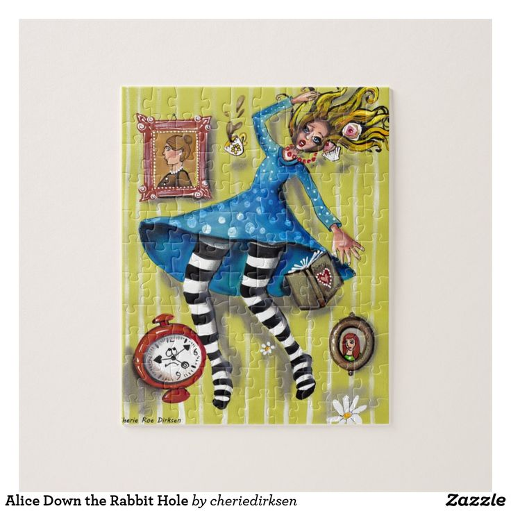 Alice Down the Rabbit Hole Jigsaw Puzzle --- get 20% off this #blackfriday2017