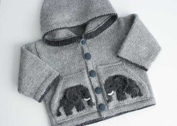 Ravelry: Project Gallery for L'enfant d'éléphant - Le sweat à capuche pattern by La Droguerie