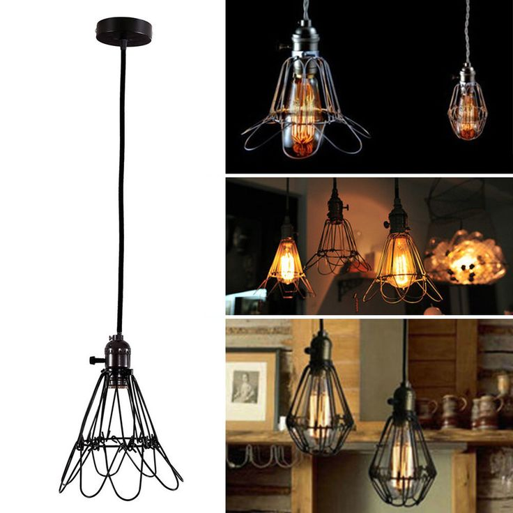Edison Antique Vintage Ceiling Pendant Light Lamp Shade Chandelier Lampshade