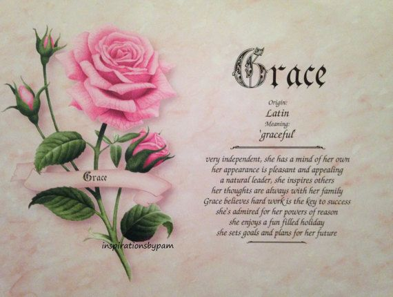 Personalized Grace First Name Meaning Art by inspirationsbypam. More designs at www.etsy.com/shop/inspirationsbypam. Save 10% with code: Pinterest10 thru 12-31-16.
