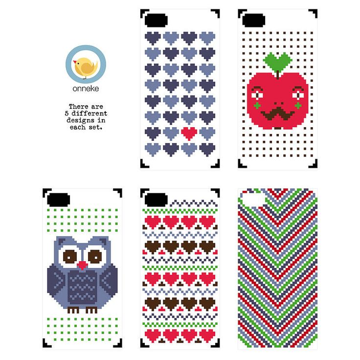 iPhone cover cross stitch kit by onneke