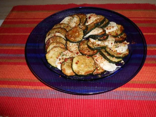 Rezept: Antipasti: Zucchini mit Mozarella