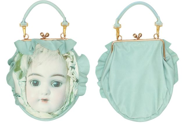 あちゃちゅむ 2014 Fall - Bisqu doll leather/ fabric purse