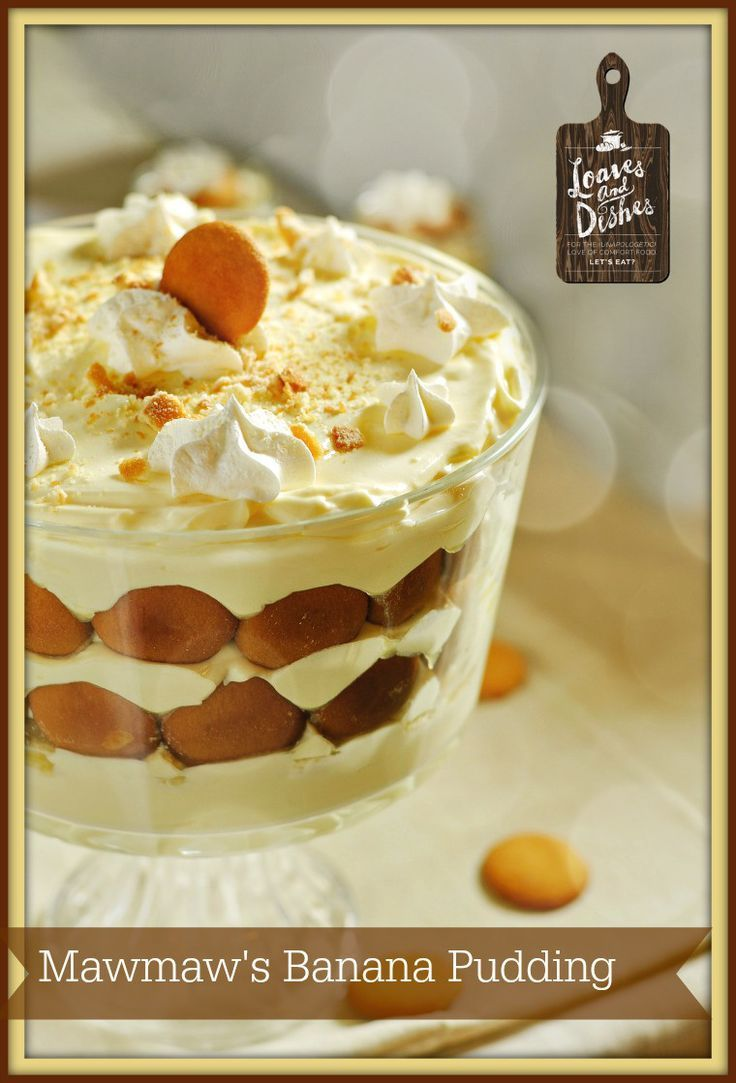 Always a holiday favorite!  Will be gone before you know it! Mawmaw's Banana Pudding @loavesanddishes.net