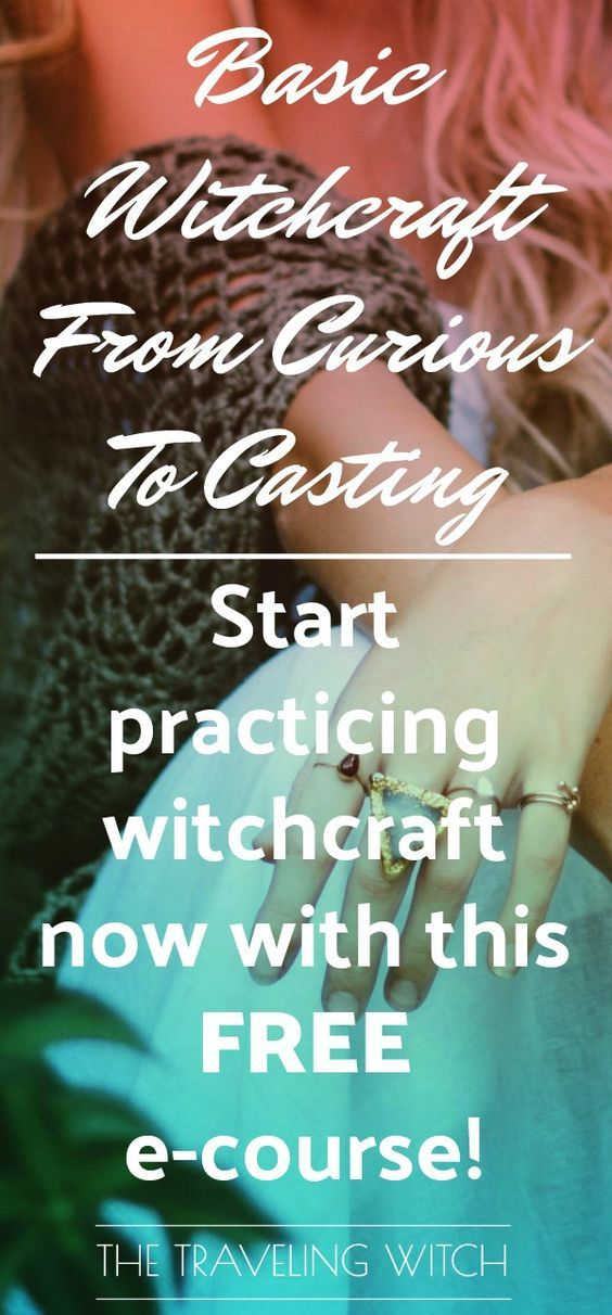 Basic Witchcraft: From Curious To Casting // Learn everything you need to know to start practicing basic witchcraft today with this FREE e-course// The Traveling Witch