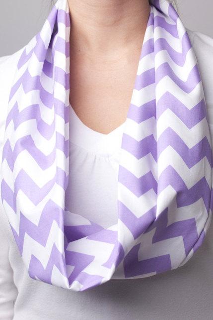 Purple Chevron Infinity Scarf. $14.00, via Etsy.