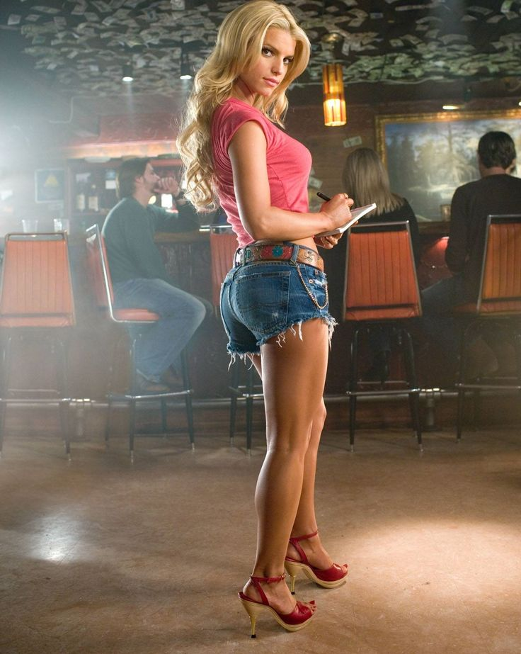 "Jessica Simpson​; Portraying Daisy Duke in 2005's,""The Dukes of Hazzard"" https://youtu.be/gVdB3riCbt4  <~Movie-trailer) ~~~~~~~~~~~~~~~~~~~~~~~~~~~~~~~~~~~~~~~~~~~ -(Wikipedia) https://en.wikipedia.org/wiki/Jessica_Simpson -(IMDb) http://www.imdb.com/name/nm0005433/ ~~~~~~~~~~~~~~~~~~~~~~~~~~~~~~~~~~~~~~~~~~~ ..and, J.S.'s shitty version of the song ""These Boots Are Made For Walkin"", along with Nancy Sinatra's original version of the song are in the comments respectively."