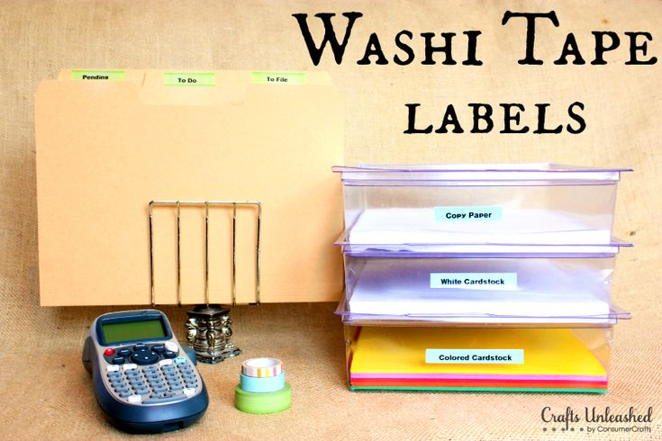 DIY washi tape labels