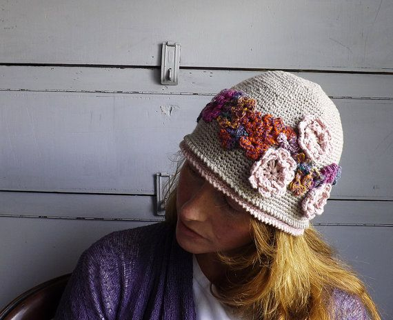 Pretty and feminine hat  https://www.etsy.com/listing/231790470/1920s-style-summer-cloche-hat-with