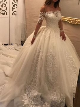 b3138a684233d Charming Beaded Lace Open Back Ball Gown Wedding Dress | If I went ...